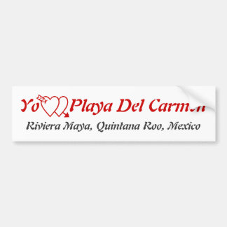 Playa del Carmen, maya México de Quintana Roo Rivi Pegatina Para Auto