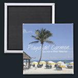 "Playa del Carmen Mexico Beach Travel Fridge Magnet<br><div class=""desc"">Refrigerator magnets picture a beach scene in Playa del Carmen,  Mexico.</div>"