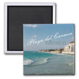 Playa del Carmen Mexico Beach Travel Fridge Magnet