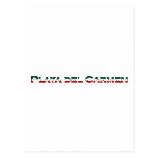 Playa del Carmen (text logo) Postcard