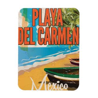 Playa del Carmen Vintage travel poster print Magnet