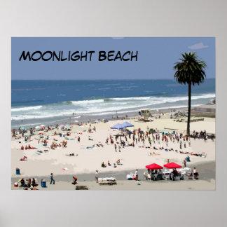 Playa del claro de luna poster