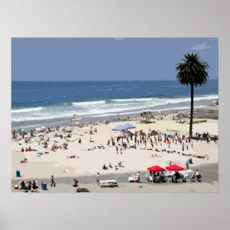 playa del claro de luna póster