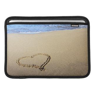 Playa del corazón del amor fundas macbook air