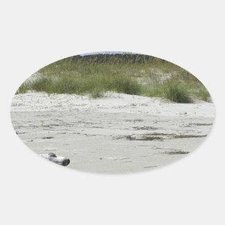 Playa del Cumberland Pegatina Oval Personalizadas
