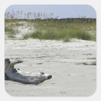 Playa del Cumberland Pegatinas Cuadradases Personalizadas