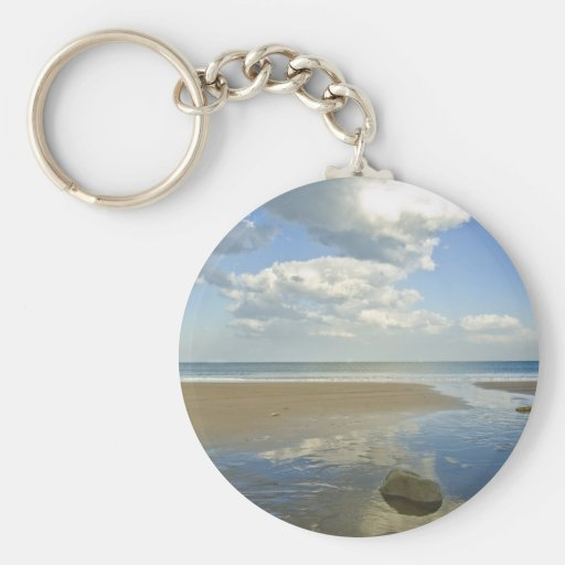 Playa del desierto llavero personalizado