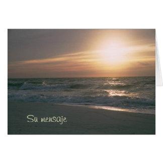 Playa del en Pensacola de La Salida del Sol Tarjeta De Felicitación