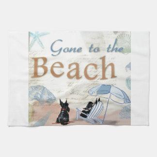 Playa del escocés toallas de mano