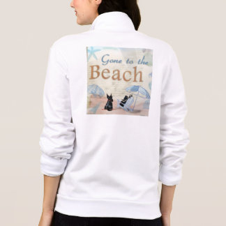 Playa del escocés chaquetas imprimidas