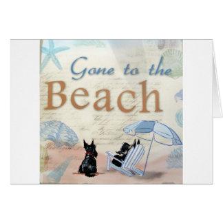 Playa del escocés tarjeta