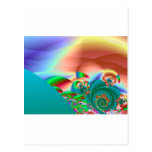 Playa del fractal tarjetas postales