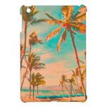Playa del hawaiian del vintage de PixDezines iPad Mini Carcasa