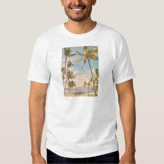 Playa del hawaiian del vintage de PixDezines Polera