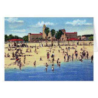 Playa del hotel de parque de St Petersburg la Flor Tarjeta De Felicitación