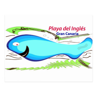 Playa del Ingles Gran Canaria Postcard
