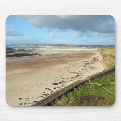 Playa del jersey con marea baja alfombrilla de ratón