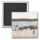 Playa del KRW York, imán 1901 del vintage de Maine