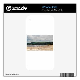 Playa del lago Superior Calcomanías Para El iPhone 4