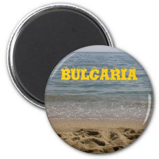 Playa del mar de Bulgaria Imán Redondo 5 Cm