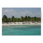 Playa del maya de la costa tarjeta de felicitación