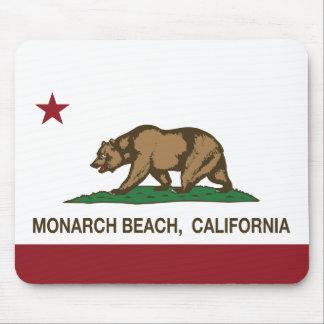 Playa del monarca de la bandera de la república de mousepads