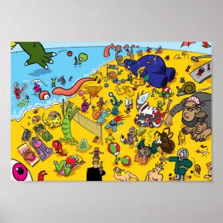 Playa del monstruo póster