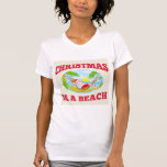 Playa del navidad del padre de Papá Noel que se re Camiseta