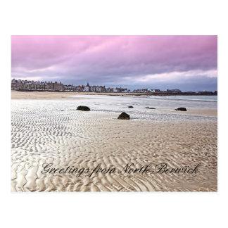 Playa del norte de Berwick en Escocia Postal