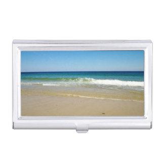 Playa del océano cajas de tarjetas de presentación