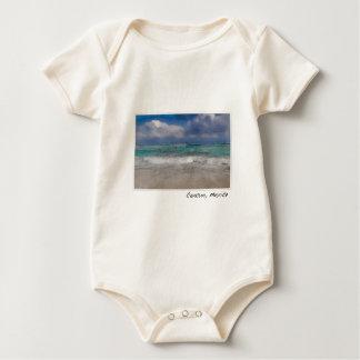 Playa del océano de Cancun México Body Para Bebé