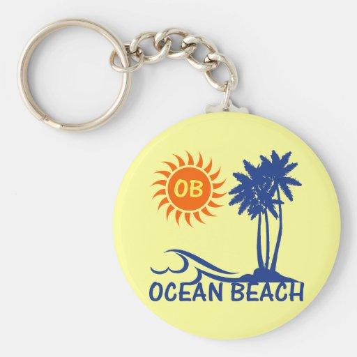 Playa del océano llavero personalizado