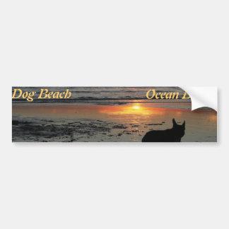 Playa del océano, pegatina para el parachoques de  etiqueta de parachoque