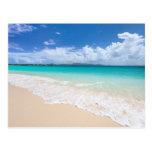 Playa del océano postal