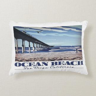 Playa del océano, San Diego, California Cojín