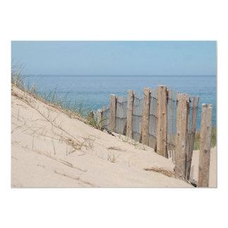 """Playa del océano y cerca de la playa invitación 5"""" x 7"""""""