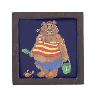 Playa del oso caja de recuerdo de calidad