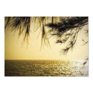 """Playa del paisaje de Goa Invitación 5"""" X 7"""""""