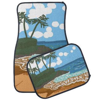 Playa del paraíso alfombrilla de coche