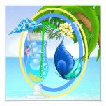 Playa del paraíso invitaciones personalizada