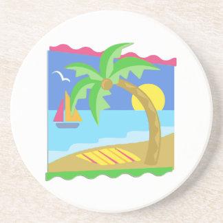 Playa del paraíso posavasos personalizados