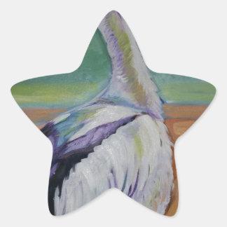 Playa del pelícano pegatina en forma de estrella