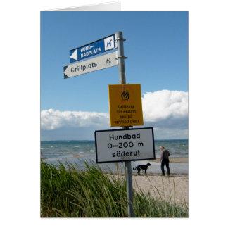 Playa del perro en Raa Suecia Tarjeta