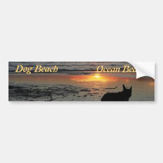 Playa del perro pegatina para auto