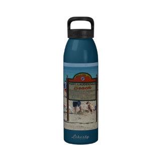 Playa del pie Lauderdale Botella De Agua Reutilizable