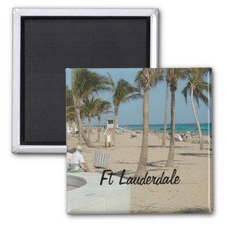 Playa del pie Lauderdale Imán