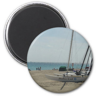Playa del pie Lauderdale Imán Redondo 5 Cm