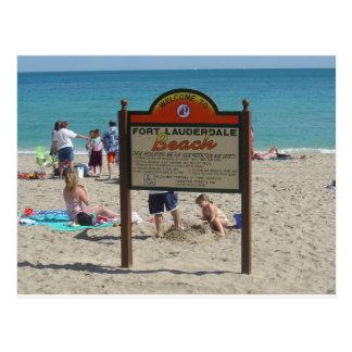 Playa del pie Lauderdale Postal