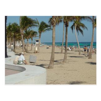 Playa del pie Lauderdale Tarjeta Postal