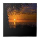 Playa del pie Meyers en la puesta del sol Azulejo Cerámica